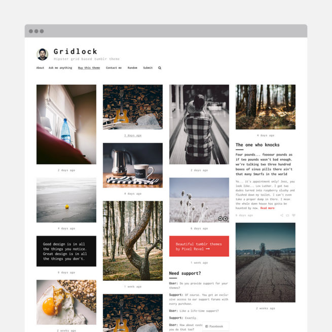 Premium Tumblr & WordPress themes – Pixel Revel
