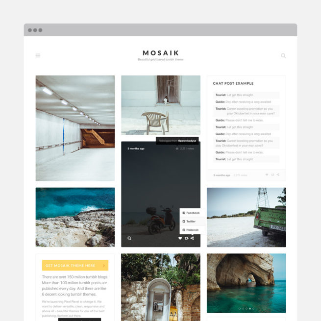 Pixel Revel – Premium WordPress & Tumblr themes